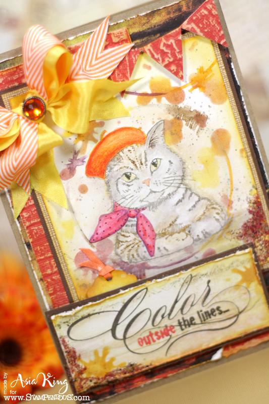 Dreamweaver pan pastels distress inks bunting pennants vintage background