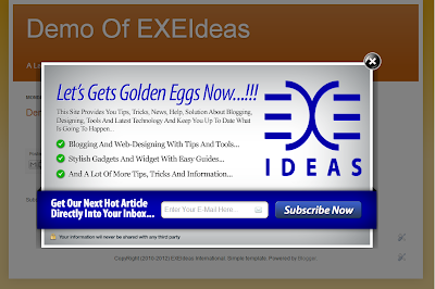 Awesome EXE-Style POP-UP V2 Widget For Blog And Website.