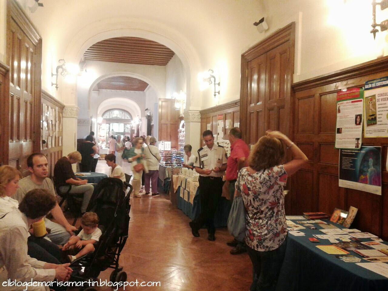 Pasillo en el 21 salon internacional del esoterismo y las terapias naturales