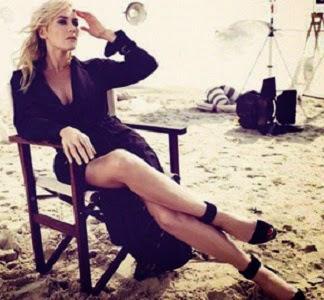 Kate Winslet ,Terlihat Langsing, Ketika Menjadi Model Majalah