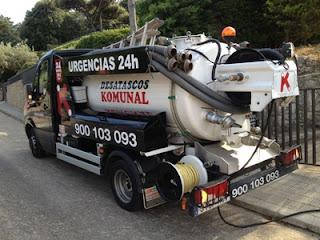 Camión cuba en Santa Coloma de Gramenet