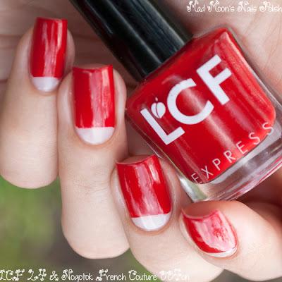 Лунный маникюр с LCF 24 и Nogotok French Couture 004