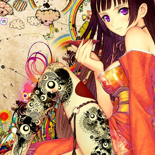Colorful Anime Girl