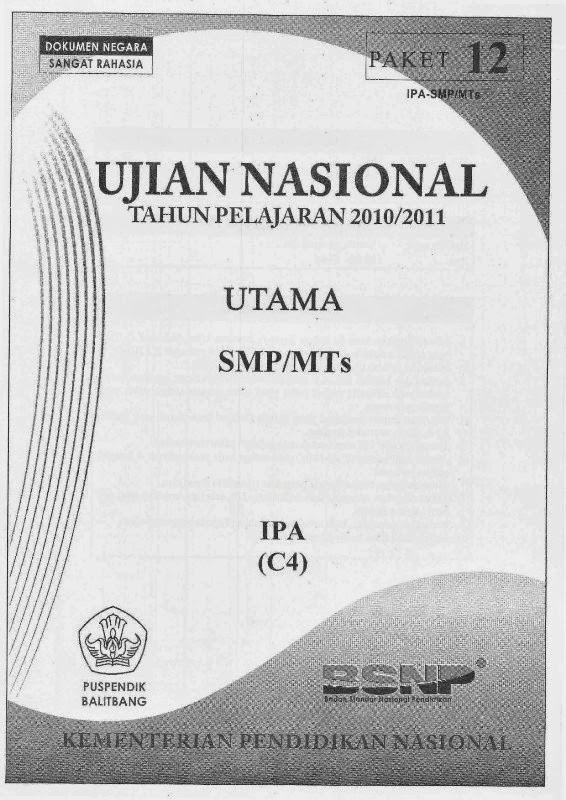 Berbagi Dan Belajar Naskah Soal Un Ipa Smp 2011 Paket 12