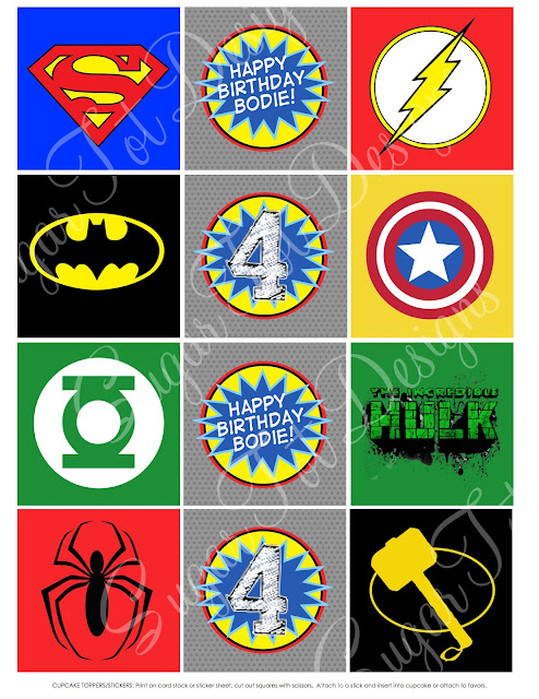 Superhero Logos Printable All The