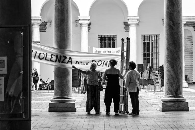 Violenza sulle donne Genova Italia aggresion