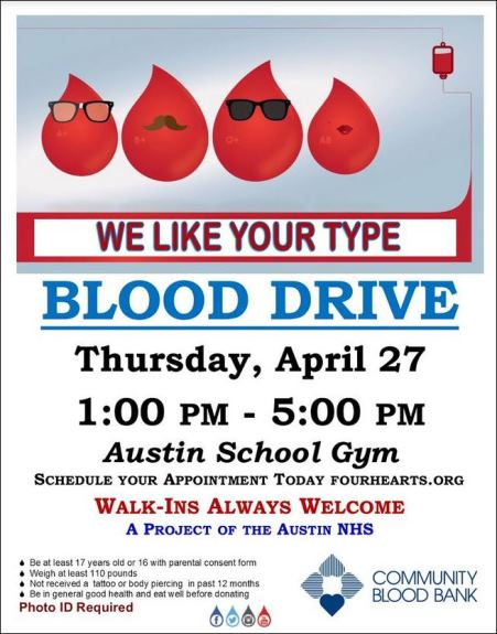 4-27 Blood Drive in Austin