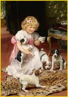 Πίνακες παιδιών και κατοικίδιων του Arthur John Elsley (Ρετρό)