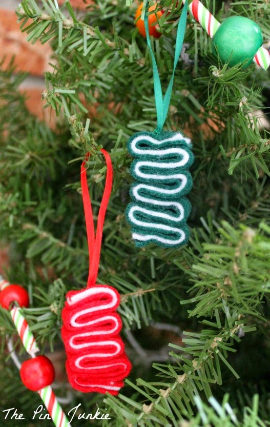Felt Ribbon Candy Ornaments
