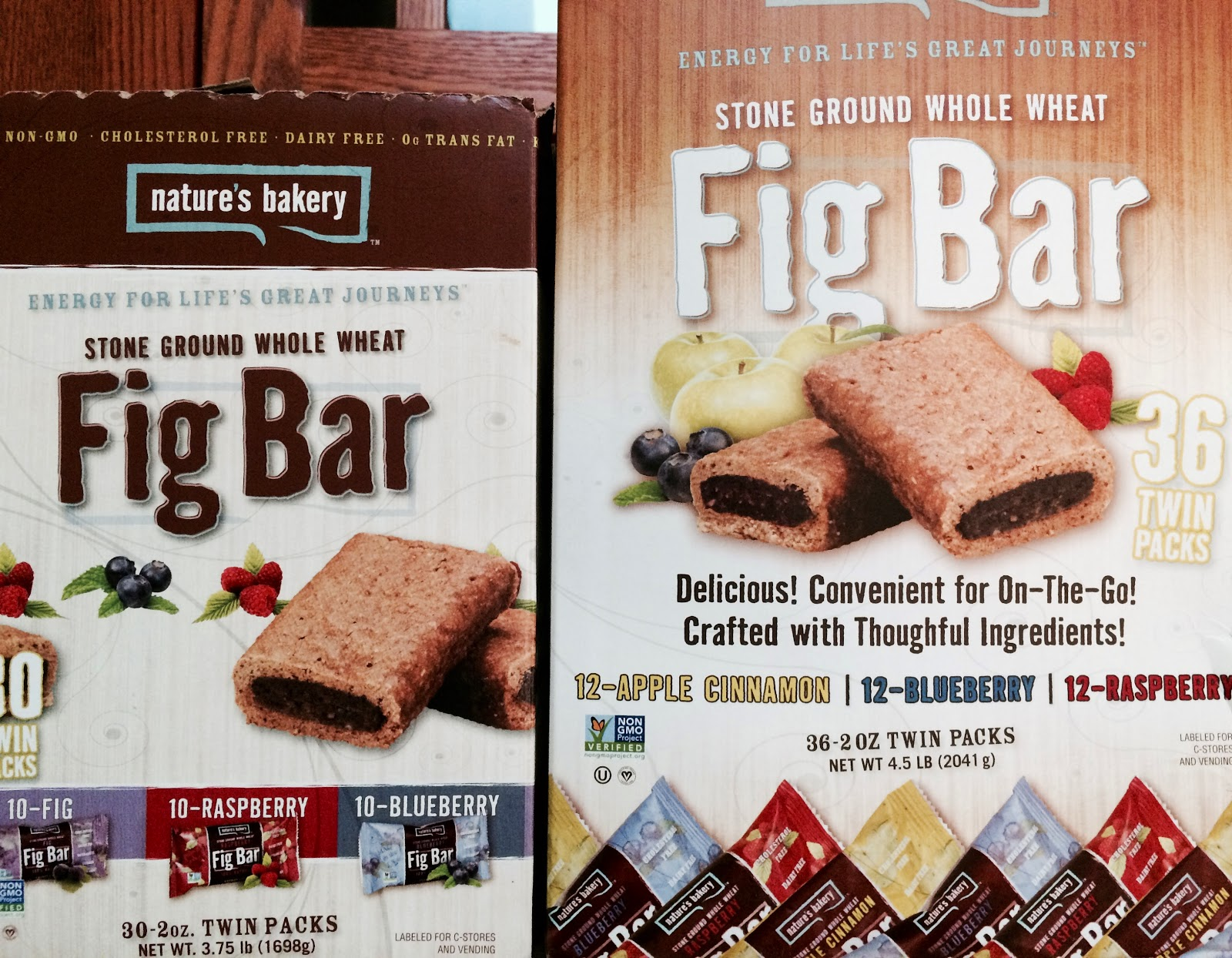 do you really know what you re eating if you re a dieter this the old and new boxes for nature s bakery fig bar from costco whole in hackensack there are six more twin packs in the larger box but those who love