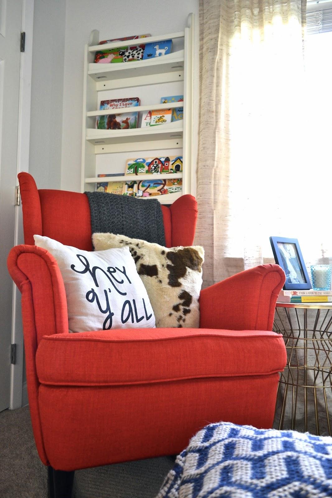 Texan Nursery Details Ikea Strandmon Rocking Chair