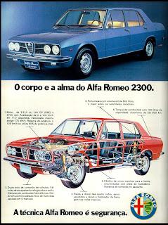 propaganda Alfa Romeo 2300 - 1974. brazilian advertising cars in the 70. os anos 70. história da década de 70; Brazil in the 70s; propaganda carros anos 70; Oswaldo Hernandez;
