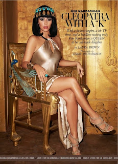 Kim Kardashian Channels Cleopatra for Harpers Bazaar Cover