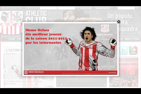 Memo Ochoa el mejor jugador del Ajaccio
