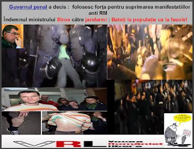 ,,Guvernul  Ponta pregăteşte intervenţii în forţă împotriva manifestaţiilor pe tema mitingurilor din ultima perioadă: cele anti Roşia Montană şi cele împotriva explorării gazelor de şist. Dacă Jandarmeria Română va interveni în forţă, guvernul USL trebuie să îşi prezinte demisia. Cert este faptul că Guvernul vrea să interzică adunările publice.  Ministrul Afacerilor Interne, Radu Stroe, a declarat după manifestaţiile din ultima perioadă că nu mai vrea mitinguri. El a adăugat că nu s-a aplicat legea până la capăt,  protestele ilegale trebuie să înceteze, iar organizatorii trebuie să respecte legea de voie sau de nevoie. Mai mult, Ministrul vrea monitorizarea tututor mitingurilor şi traseelor acestora, ordonând aceasta la videoconferinţa cu prefecţii şi reprezentanţii Jandarmeriei. Privind retroactiv, premierul Ponta a declarat într-o emisiune pe un post de televiziune, că la Pungeşti, jandarmii au intervenit să apere o proprietate privată a Chevron şi că au procedat corect. Ne întrebăm de ce Jandarmeria apără o proprietate privată şi de ce nu apară toate proprietăţile private din România? Dacă manifestanţii din Bucureşti sau cei de la Pungeşti au încălcat legea până acum, de ce jandarmii încalcă şi ei legea?