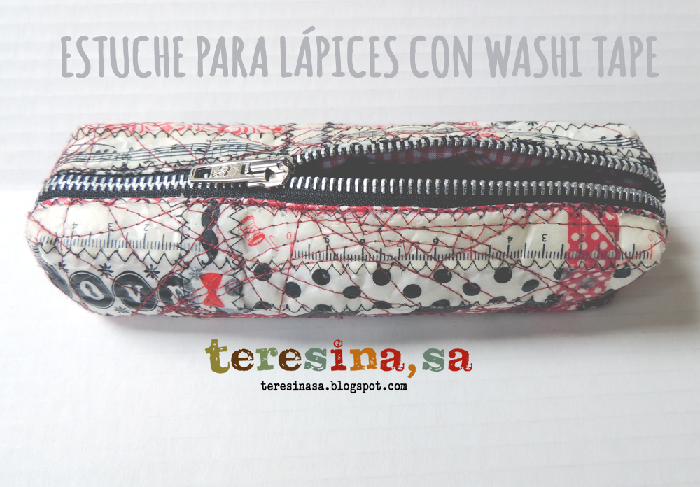 Estuche para lápices con washi tape