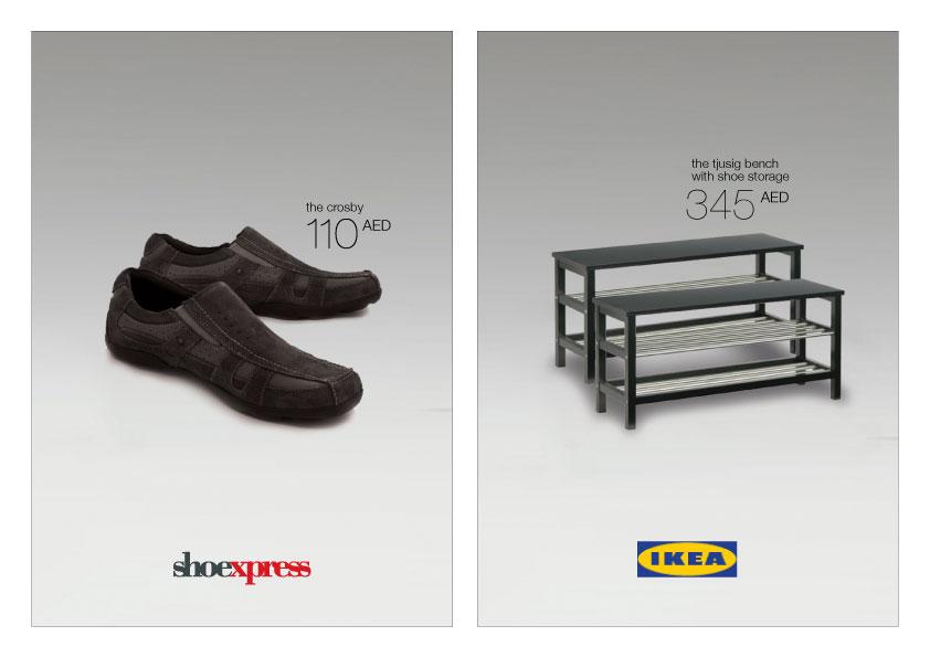 jen jaramillo � portfolio shoexpressikea print ads