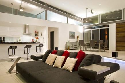 living room ideas Casa Moderna Para Climas Tropicais