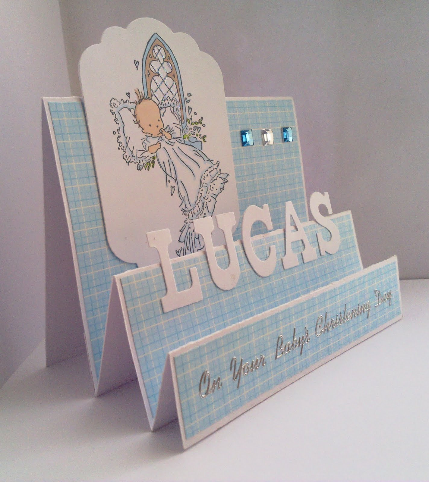 Charming Christening Card Ideas To Make Part - 9: Two Boys Christening Cards!
