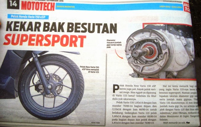 All New Honda eSP 150 Ban Cacing Eksklusif di Motor Plus