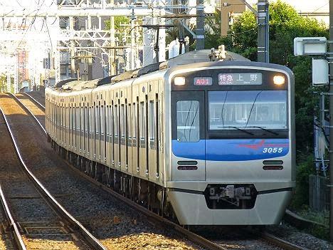 特急 上野行き 3050形3055F