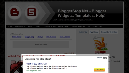 how to stop web site redirecting to advertiser