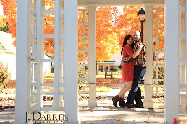 photo of Reynolda Gardens engagement session Winston Salem