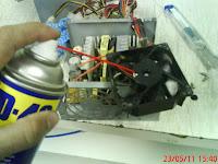 lubrificando o cooler