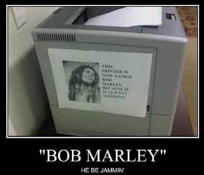 bob marley printer