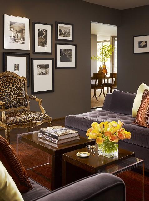 Blog achados de decora o paredes escuras na decora o for The living room 002