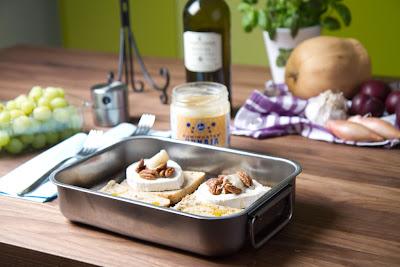 pekaanipähkinä, jyväilo, vuohenjuusto