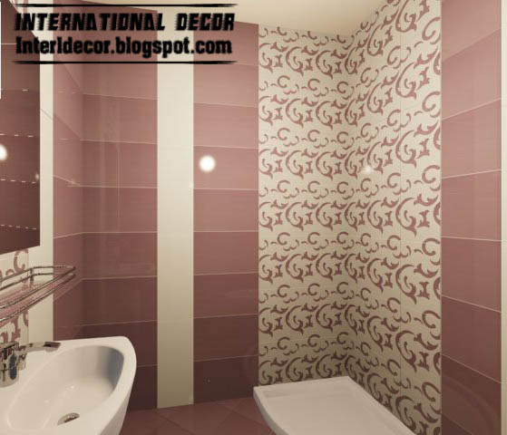 3d tiles design for small bathroom design ideas with patterned wall ceramic  tiles. Interior Design 2014  3d tiles designs for small bathroom design