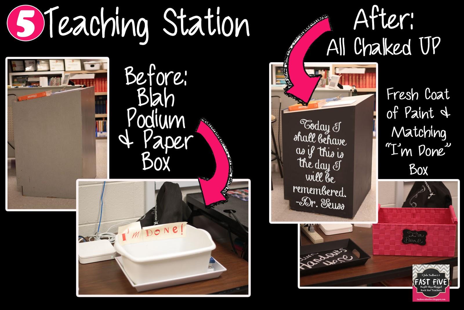 Classroom Chalkboard Ideas ~ Vintage rock star glam secondary classroom decor for back