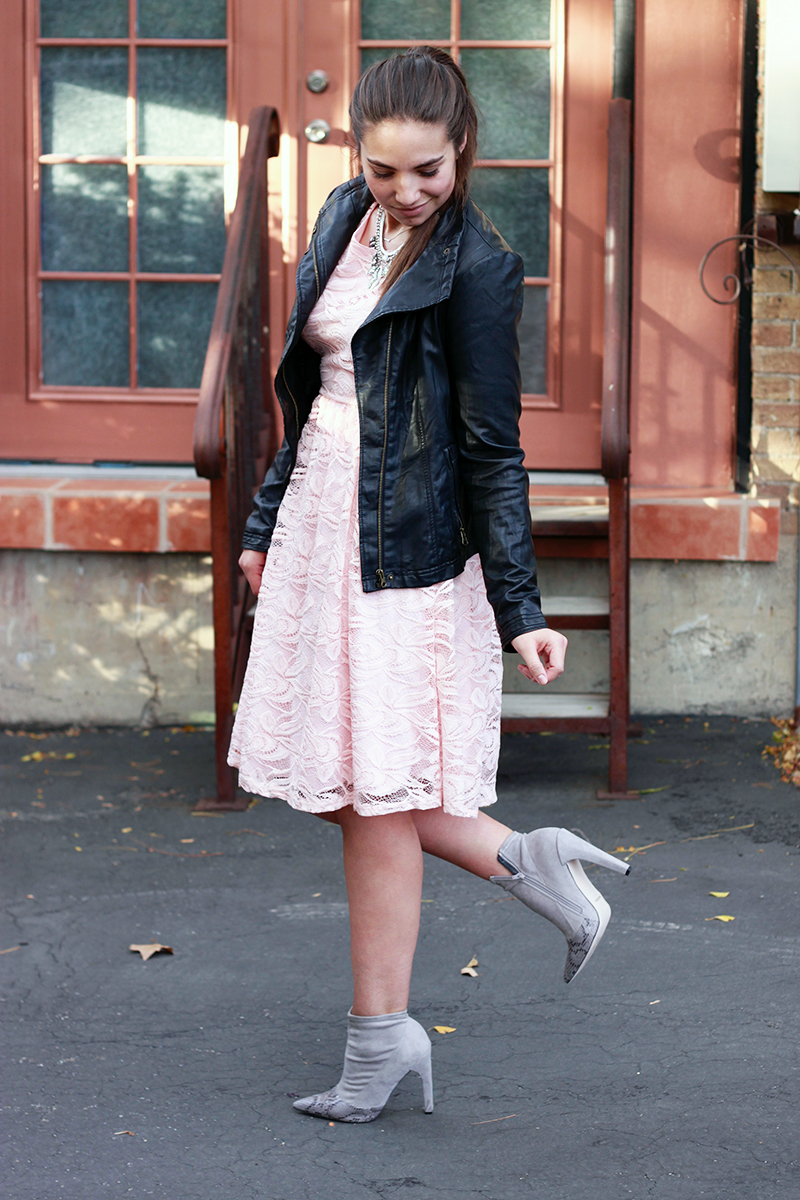 lace dress from mikarose clothing