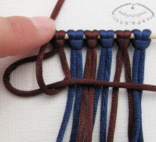 węzeł rypsowy - makrama - 4