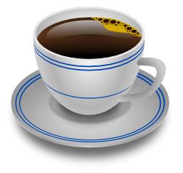 o espaço do software livre criando uma xícara de café semi