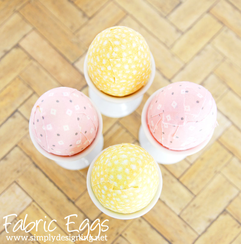 DIY Fabric Eggs | come see what special item I used to make these cool fabric covered eggs which is like nothing you've ever seen before! | #easter #eastereggs #holiday #easterdecor #crafts