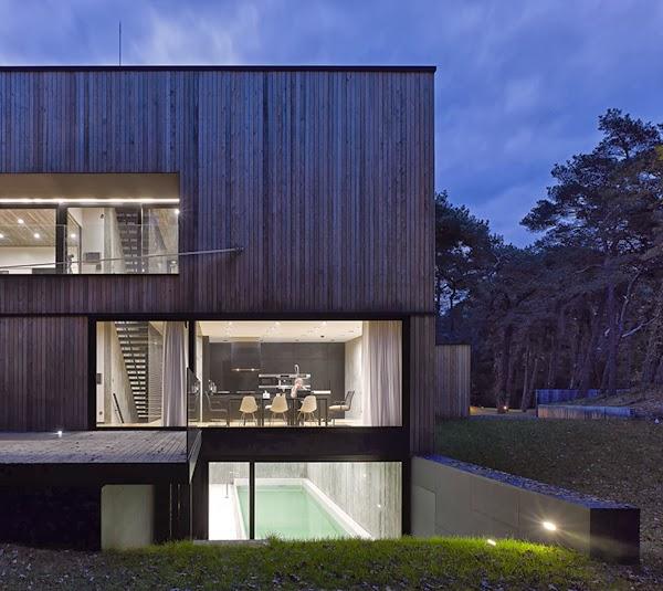 Casas minimalistas y modernas casa moderna de hormigon y for Casa moderna 9 mirote y blancana