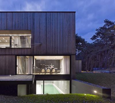 Casas minimalistas y modernas casa moderna de hormigon y for Casa moderna 7 mirote y blancana