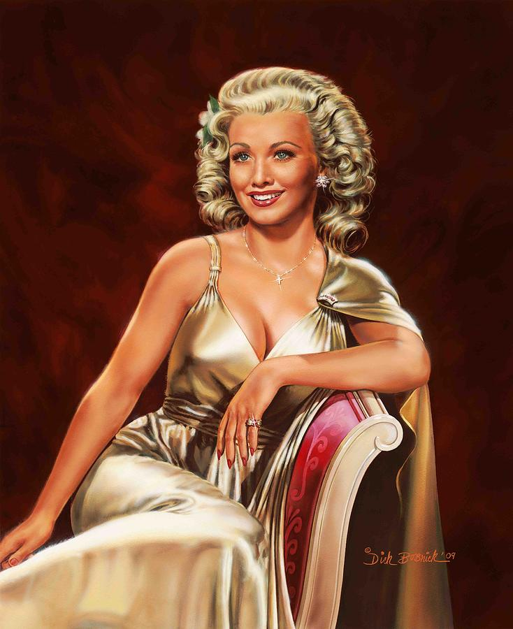 Carole's portrait from artist Dick Bobnick