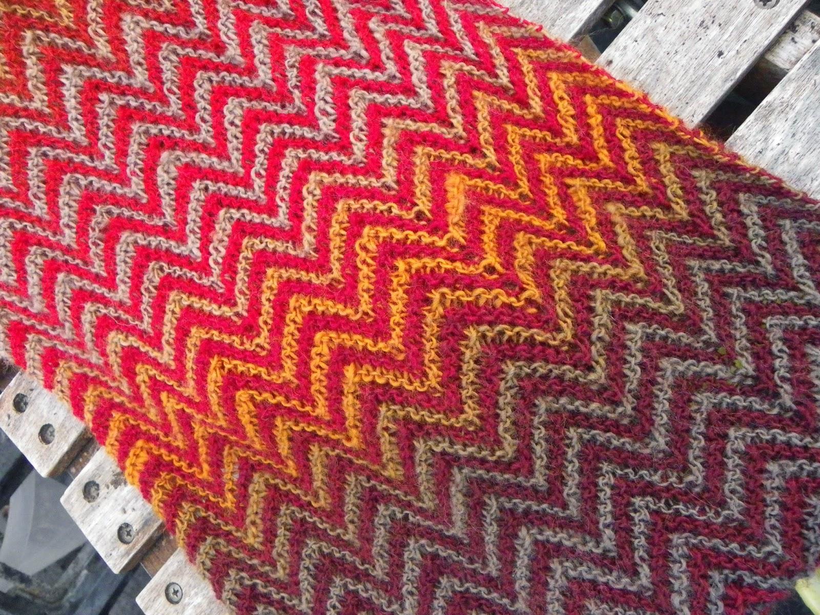 Mein Wollladen Einfach Aber Sehr Effektiv Zickzack Schal