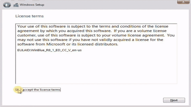 accept cara instal windows 8
