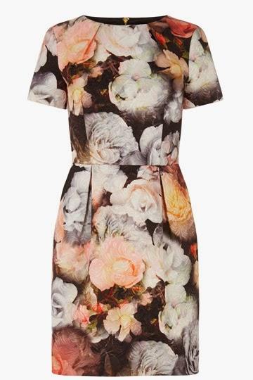 oasis black flower print dress