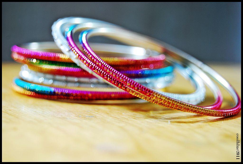 5. Rainbow Color Bangles