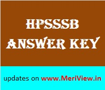 HPSSSB All Exams Answer key