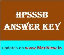 HPSSSB All Exams Answer key