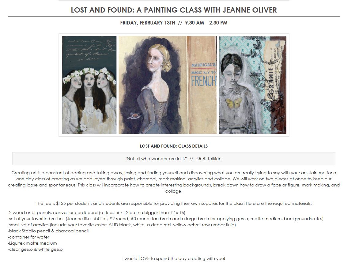 http://jeanneoliverdesigns.com/blog/2015/01/23/lost-found-art-class-coming-denver/
