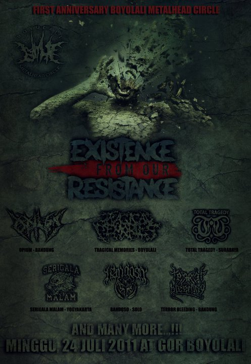 EXISTENCE FROM OR RESISTANCE (Coming Soon July 24 th 2011)