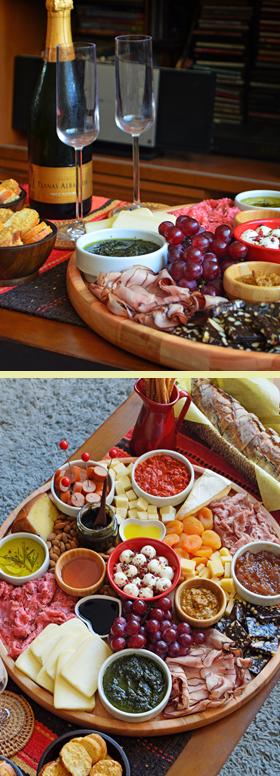Uma tábua de queijos e frios para comemorar os nossos 22 anos de relacionamento