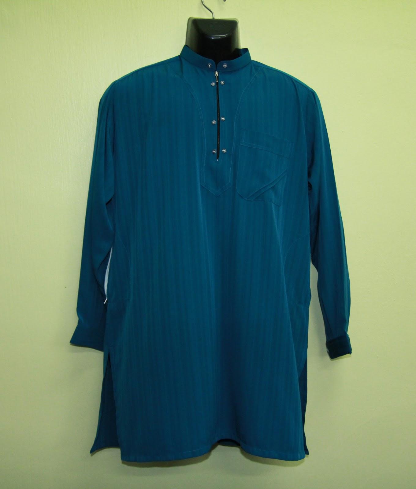Baju kurta al bukhari plain color kain jalur mawar muslim